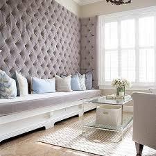 tall gray velvet tufted bench design ideas