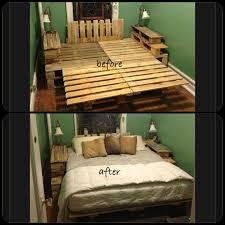 best 25 pallet bed frames ideas only on pinterest diy pallet