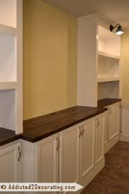 How To Build A Base Cabinet by Diy Built Ins With Kitchen Cabinets Home Dining Room