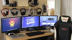 gaming setup ps4 my gaming setup custom pc macbooks triple monitors xbox one