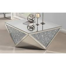 mirrored end table set best quality furniture mirrored crystal 2 piece coffee and end table