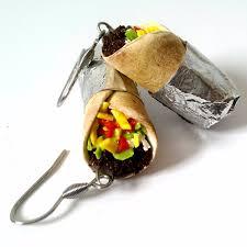 food earrings burrito earrings food earrings food jewelry unique gift