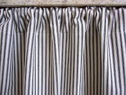 Ticking Stripe Curtains Ticking Stripe Curtain Black Ticking Cabinet Curtain Or Sink