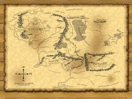 Map Middle Earth The Lord Of The Rings Auston Habershaw