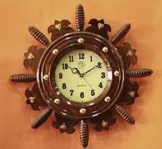 wooden wall clock ship wheel design graameen
