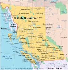 map of bc columbia canada emblems map