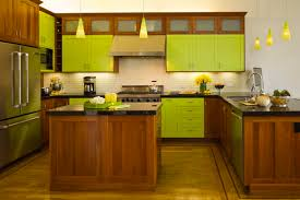 painted kitchen cabinet ideas with green wooden cabinets mint