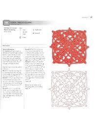 crochet coral trellis square granny square with diagram and