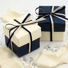 wedding gift boxes uk navy silk ivory favour boxes x10 the last detail