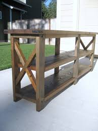 Sofa Console Tables by Sofas Center Ana White Diy Rustic X Console Table Projects Sofa