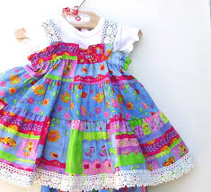 baby dress colorful blue baby dress sizes 3 6 9 12 18 months