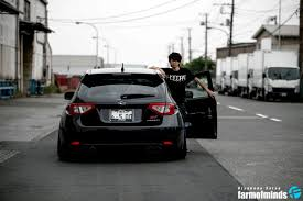 slammed subaru hatchback following your instincts nishi u0027s slammed sti farmofminds
