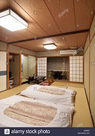 Japanese Room Traditional Japanese Room At A Ryokan With Futons Shikibuton On