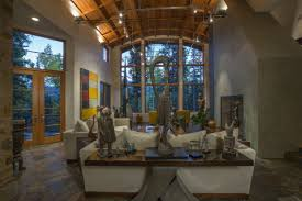 House Design Large Windows by Inside The Home Has Large Windows High Ceilings And Plenty Of