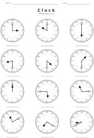 clock worksheets images reverse search
