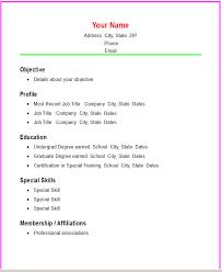simple resume template vnzgames