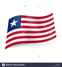 Star Flags National Flag Of Liberia Red And White Horizontal Stripes Blue