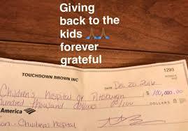 antonio brown donating 100 000 to children u0027s hospital of