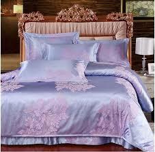 online shop pink purple silk bedding set 4pcs ab sides silk cotton