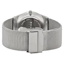 mens stainless steel bracelet watches images Skagen melbye grey dial stainless steel mesh men 39 s watch skw6078 jpg