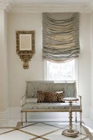 furniture windows treatment with grey luxury fabric balloon