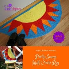 Semi Circle Rugs 9 Best Semi Circle Crochet Rug Images On Pinterest Crochet Rugs