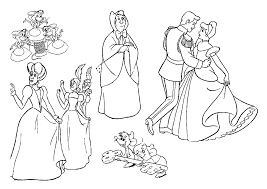 all characters in cinderella coloring page cinderella pages of