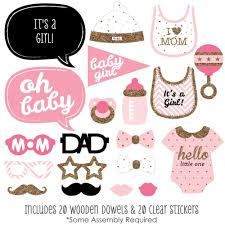 amazon com hello little one pink and gold baby shower