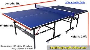 ping pong table dimensions inches best ping pong tables how to choose pingpongsport bestpingpong