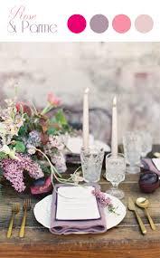 couleur mariage couleurs tendance mariage poudré fushia et parme