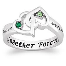 silver name rings personalized sterling silver s entwined hearts