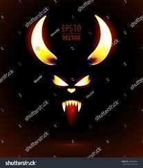 halloween background devil glowing silhouette satan fire devil face stock vector 289048424