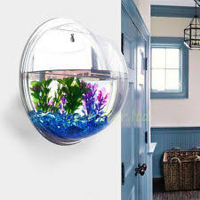 wall hanging bubble aquarium bowl 1 gal round fish tank planter