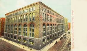 postcard chicago marshall field wholesale store an h h richardson