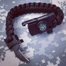 survival bracelet with whistle images Black paracord survival bracelet with knife whistle fire starter jpg