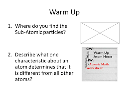 warm up directions answer the following questions on a separate