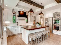 Kitchen With Two Islands Classic Kitchen Ideas For You Farmhouse Kitchen With Two Tone