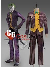 Batman Arkham Halloween Costumes Batman Arkham Asylum Joker Coat Suit Cosplay Costume