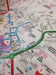 Canterbury England Map by Digital Walkshop