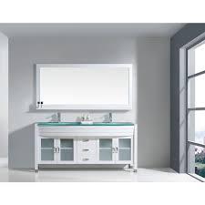 67 Bathroom Vanity by Virtu Usa Ava 71 Inch Double Bathroom Vanity Cabinet Set In White
