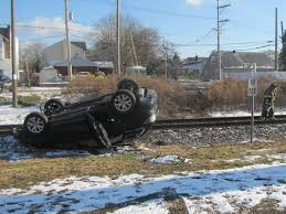 police car stolen in brooklawn flips over on railroad tracks with