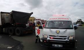 coal truck crashes into car on road between embalenhle and kinross