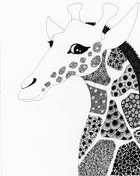 work in progress of a giraffe drawing eclectic cycle