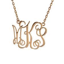 monogram necklace pendant wholesale fashion women and men casual dress monogram necklace
