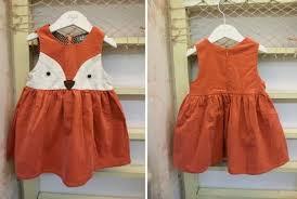 sweet kids girls fox style casual dresses sleeveless spring summer