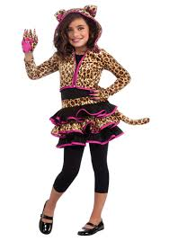 girls leopard hoodie costume animals costumes kids costumes