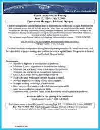 Revised Resume Arranging A Solid Automotive Resume