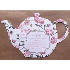 bridal tea party invitation teapot bridal shower invitations teacup invitation toretoco