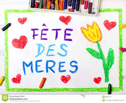 french mother u0027s day card stock illustration image 68523147