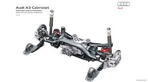car rear suspension audi a3 cabriolet 2015 multi link rear quattro suspension